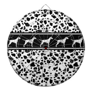 Dalmatian dog pattern dartboard