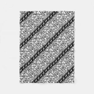 Dalmatian dog pattern fleece blanket