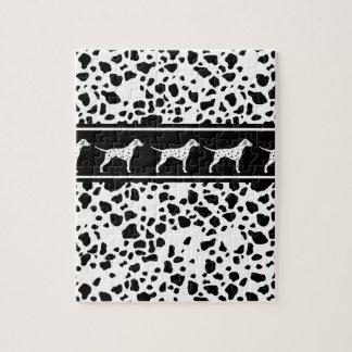 Dalmatian dog pattern jigsaw puzzle