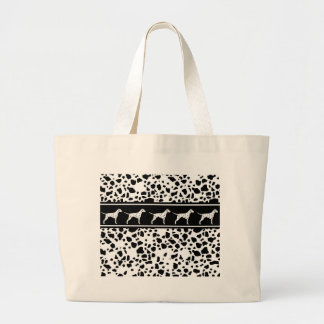 Dalmatian dog pattern large tote bag