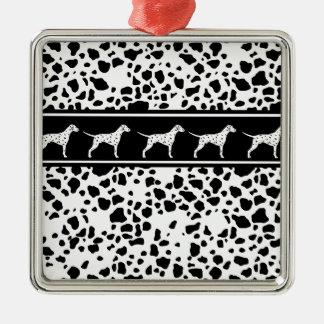 Dalmatian dog pattern metal ornament