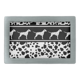 Dalmatian dog pattern rectangular belt buckles