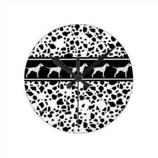Dalmatian dog pattern round clock