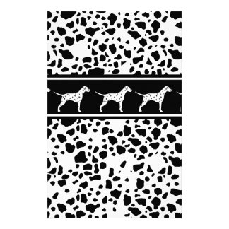 Dalmatian dog pattern stationery