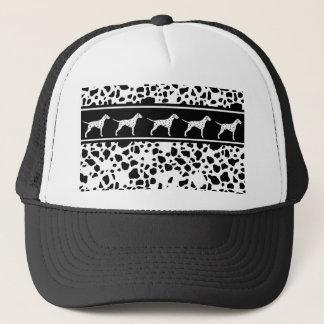 Dalmatian dog pattern trucker hat