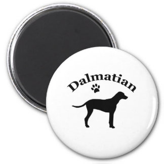 Dalmatian dog pawprint silhouette magnet, gift magnet