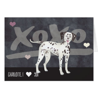 Dalmatian Dog Personalized Valentines Day Card