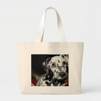 Dalmatian dog, pretty lookking large tote bag