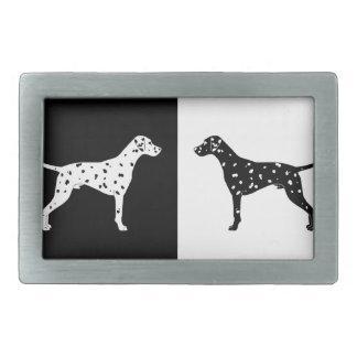 Dalmatian dog rectangular belt buckles