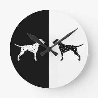 Dalmatian dog round clock