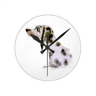 dalmatian dog, tony fernandes wall clocks