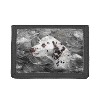 Dalmatian face tri-fold wallet