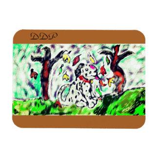 Dalmatian fall art magnet