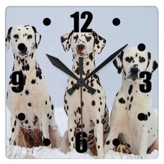 Dalmatian Family Portrait Clock
