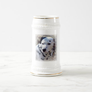 Dalmatian Fire Dog Beer Stein