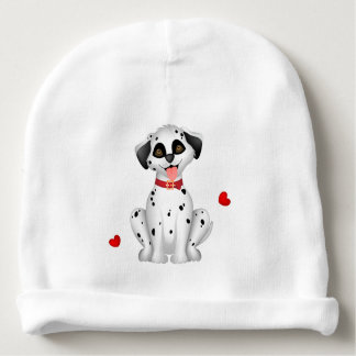 Dalmatian hearts baby beanie