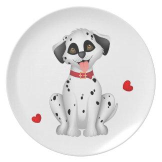 Dalmatian hearts plate