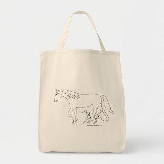 Dalmatian & Horse Design Tote Bag