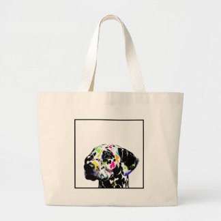 dalmatian large tote bag