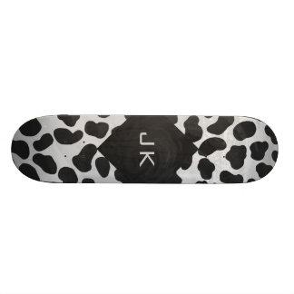 Dalmatian Monogrtam Black and White Prints Skateboard