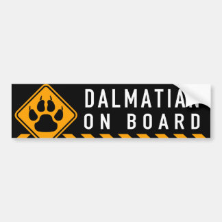 Dalmatian On Board Bumper Sticker