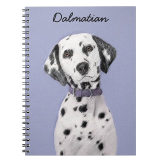 Dalmatian Painting - Cute Original Dog Art Notebook