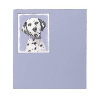 Dalmatian Painting - Cute Original Dog Art Notepad
