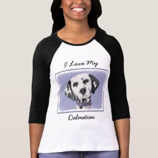 Dalmatian Painting - Cute Original Dog Art T-Shirt