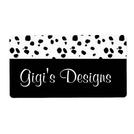 Dalmatian print handmade labels
