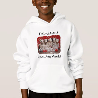 Dalmatian Puppies Rock My World Kids Sweatshirti