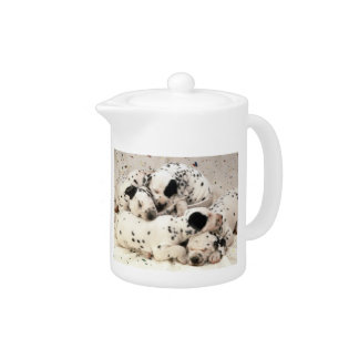 Dalmatian Puppies Sleeping Teapot