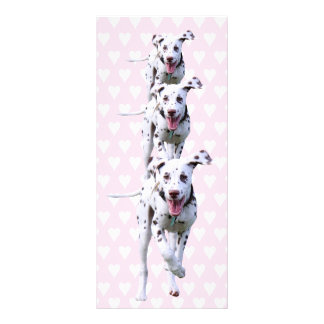 Dalmatian puppy dog bookmark, gift idea rack card