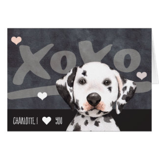 Dalmatian Puppy Dog Personalized Valentines Day Card
