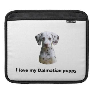 Dalmatian puppy dog photo iPad sleeves