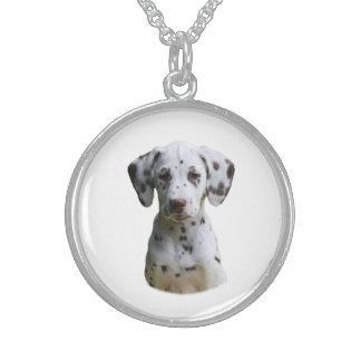 Dalmatian puppy dog photo personalized necklace