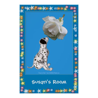 Dalmatian Puppy Kids Room Personalized Poster