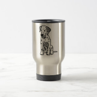 Dalmatian Puppy Sitting Travel Mug