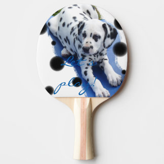 """Dalmatian puppy table tennis spoon """"Let´s play! """" Ping Pong Paddle"""