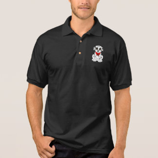 Dalmatian Puppy with the Heart-Shaped Nose Polo Shirt