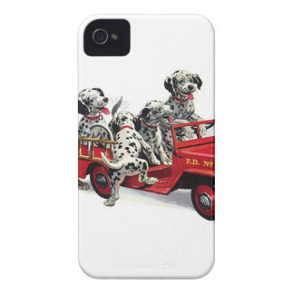 Dalmatian Pups with Fire Truck Case-Mate iPhone 4 Cases