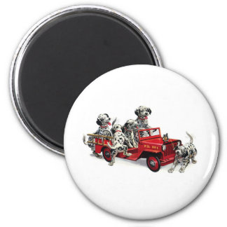 Dalmatian Pups with Fire Truck Magnet