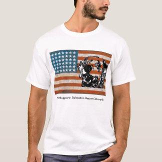 Dalmatian Rescue of Colorado Patriot White T T-Shirt