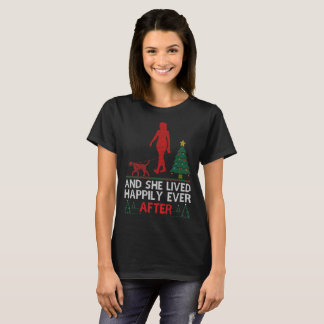 Dalmatian She Lived Happily Ever After Christmas T-Shirt