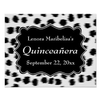 Dalmatian Spots Pattern Print Quinceanera