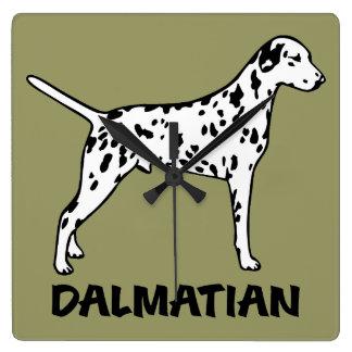 Dalmatian Square Wall Clock