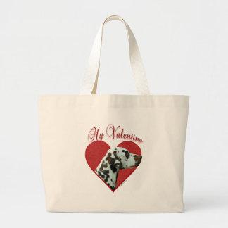 Dalmatian Valentine Large Tote Bag