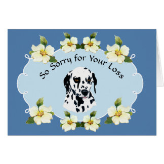 Dalmatian with Blue Dogwood Sympathy Card