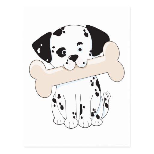 Dalmatian with Bone Postcard