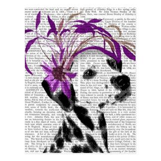 Dalmatian With Purple Fascinator Postcard