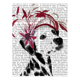 Dalmatian With Red Fascinator Postcard